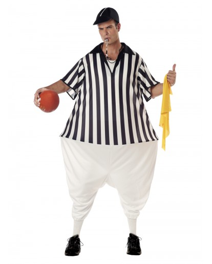 American Football Referee Fat Guy Cosplay Costume