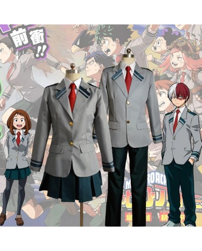 My Hero Academy Boku No Hero Academia School Uniform Cosplay Costume