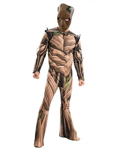 Marvel Avengers Infinity War Teen Groot Cosplay Costume Jumpsuit