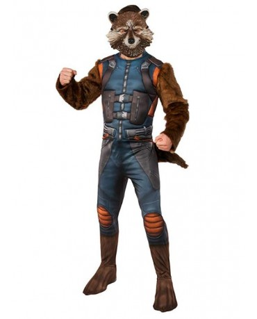 Marvel Guardians of The Galaxy Rocket Raccoon Cosplay Costume Jump