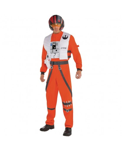 Star Wars Poe Dameron Cosplay Costume Jumpsuit
