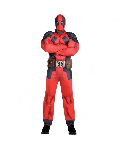 X-Men Deadpool Muscle Cosplay Costume Jumpsuit