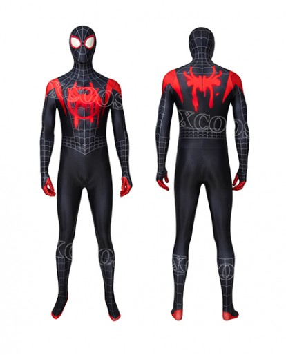 Marvel Spider-Man: Into the Spider-Verse Miles Morales Cosplay Costume Jumpsuit
