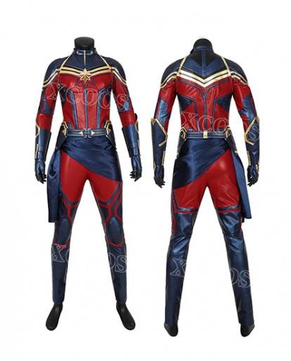 Avengers 4 Endgame Carol Danvers Captain Marvel Cosplay Costume Jumpsuit