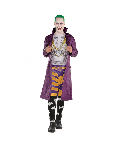 Suicide Squad Psycho Joker Cosplay Costume Jumpsuit
