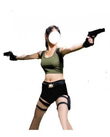Tomb Raider Lara Croft Cosplay Costume top+pant+belt