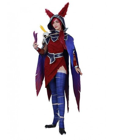 League of Legends Women Xayah Cosplay Costume
