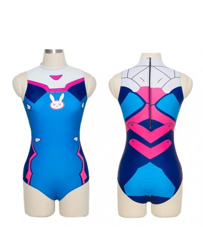 Overwatch D.VA One Piece Swimwear Bathing Suit Cosplay Costume