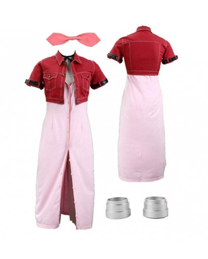 Final Fantasy VII Aerith Gainsborough Cosplay Costume Outfit