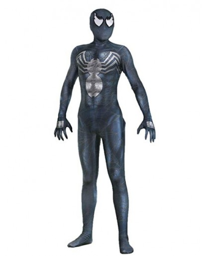 Spiderman Alwoe Venom Cosplay Halloween Lycra Spandex Unisex 3D Style One-Piece Body Tight Clothing