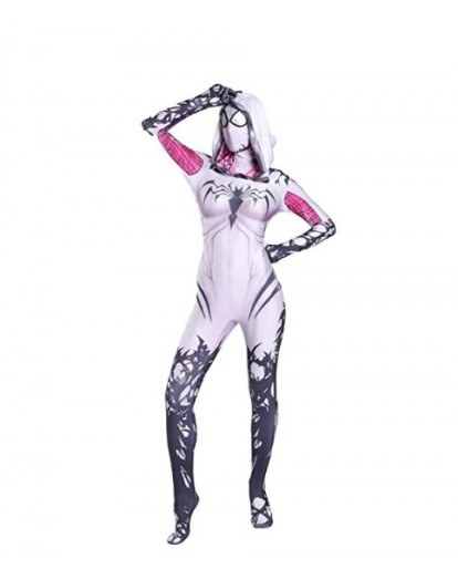 AMOCO Female Lycra Spandex Gwen Cosplay Costumes Halloween Catsuits Birthday Cos Zentai
