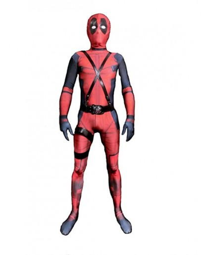Deadpool Cosplay Costume Spandex Zentai Halloween Cosplay Costumes Kids 3D Style
