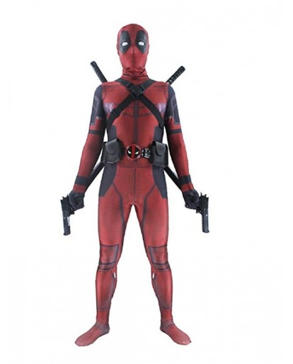 Deadpool Adult Unisex Lycra Spandex Zentai Halloween Cosplay Costumes 3D Style Jumpsuits