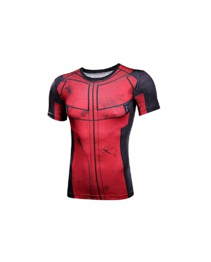 Deadpool Cosplay Costume Shirt Super Hero Compression Sports Shirt Men's Fitness Tee Gym Tank Top