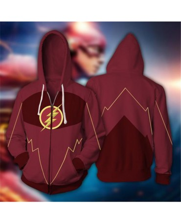 The Flash Barry Allen Cosplay Costume Sweatshirt Hoodie
