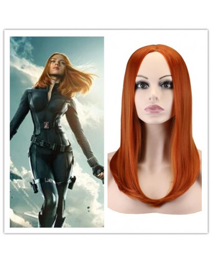 Captain America 2 Black Widow Natasha Romanoff Cosplay Wig