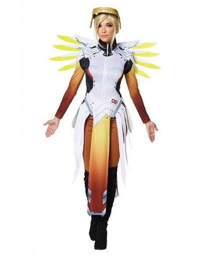 OW Overwatch Mercy Cosplay Costume