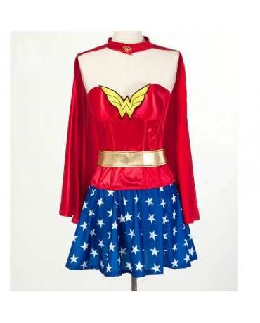 DC Wonder Women Superhero Sexy Cosplay Costume Halloween Dress