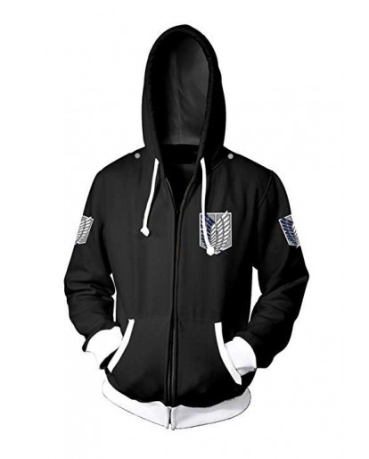 Attack on Titan Bomber Jacket Hooded Varsity Jacket