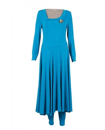 Star Trek Deanna Troi Blue Dress Cosplay Costume