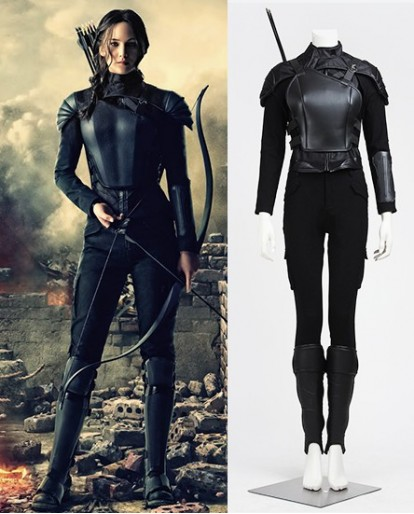 Super Amazing The Hunger Games 3 (part 1) Mockingjay Cosplay Costume