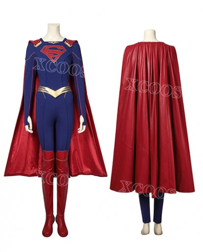 Supergirl Kara Zor-l Cosplay Costume Jumpsuit