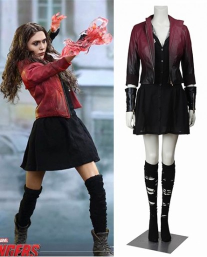 Scarlet Witch The Avengers Age of Ultron Cosplay Costume