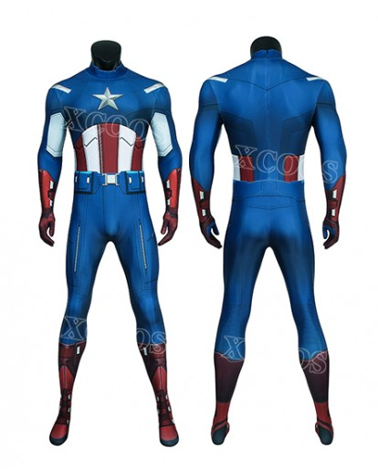 The Avengers Captain America Zentai Jumpsuit Bodysuit Cosplay Costume