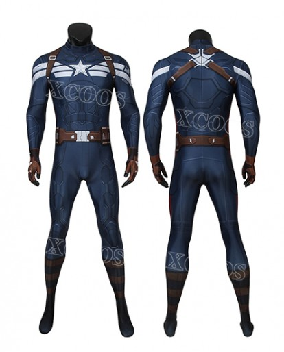 Captain America: The Winter Soldier Captain America Steve Rogers Zentai Jumpsuit Bodysuit