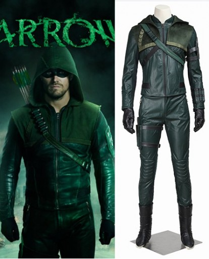 Green Arrow season 3 Oliver Queen Cosplay Costume