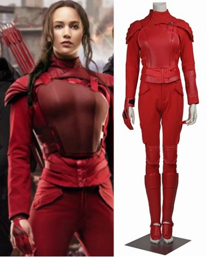 The Hunger Games 3 (part 2) Mockingjay Red Cosplay Costume