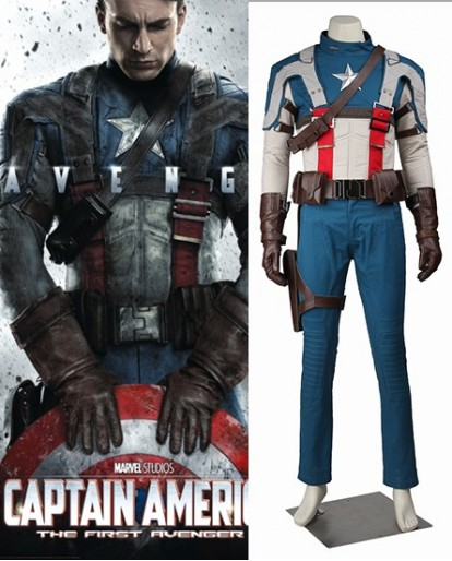 The first Avenger Captain America Steve Rogers Cosplay Costume