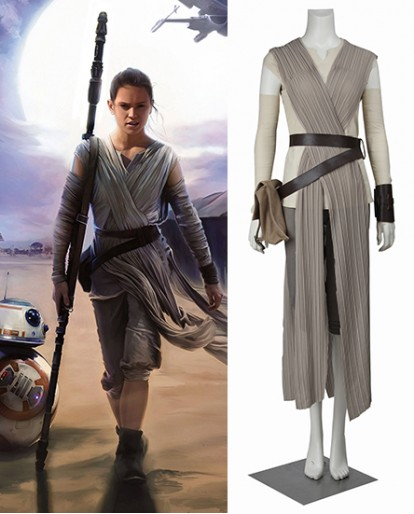 Rey Star Wars The Force Awakens Cosplay Costume