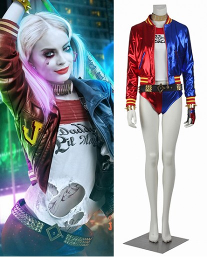 Harley Quinn Suicide Squad Halloween Cosplay Costume