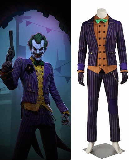The Joker Batman Arkham Knight Cosplay Costume