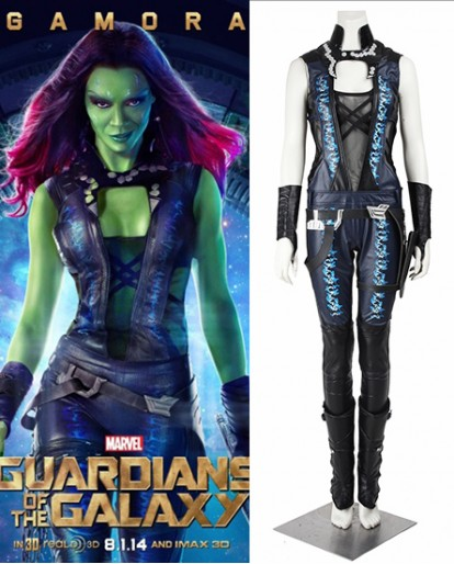 Gamora Guardians of the Galaxy Cosplay Costume
