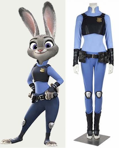 Zootopia/zootropolis Cottontail Judy Hopps Cosplay Costume