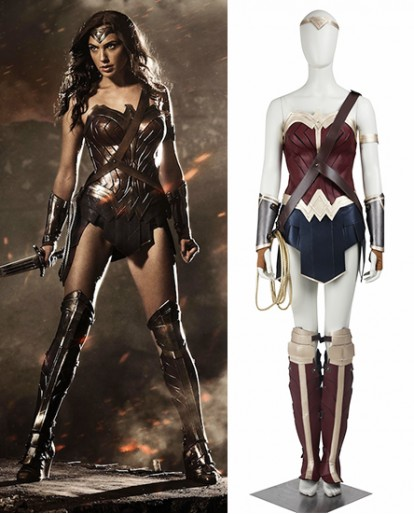 Wonder Woman Diana Prince Batmen VS Superman Cosplay Costume