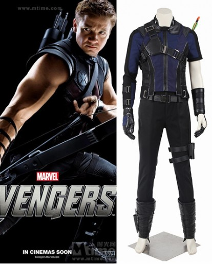 Captain America 3 Civil War Hawkeye Clinton Francis Barton Cosplay Costume