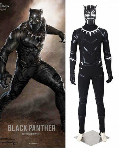 Black Panther T'Challa Captain America Civil War Cosplay Costume