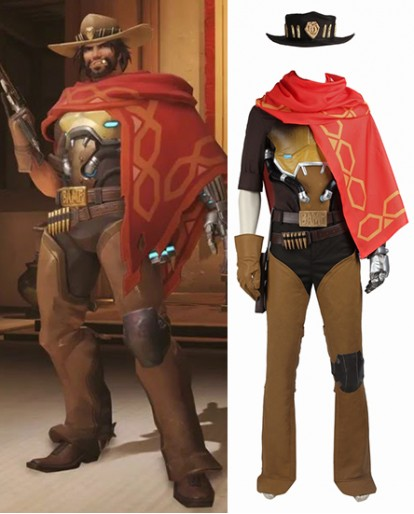Hunder Jesse McCree Overwatch Cosplay Costume