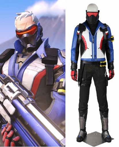 Soldier 76 Overwatch Game Cosplay Costume