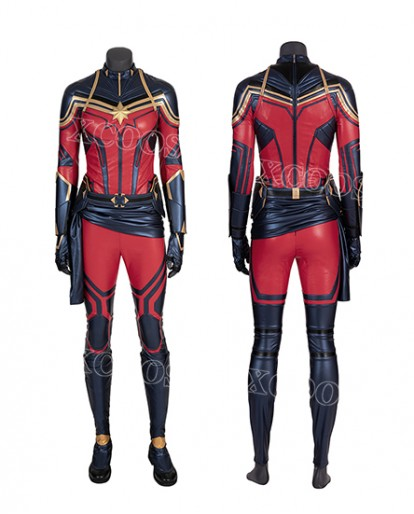 The Avengers 4: Endgame Captain Marvel Cosplay Costume Jumpsuit