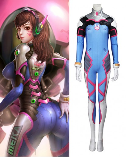 Overwatch D.Va Cosplay costume spandex jumpsuit