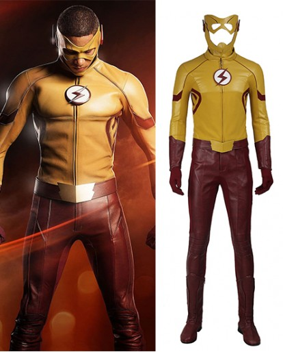 Kid Flash Wally West The Flash season 3 Cosplay Costume