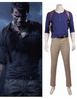 Nathan Drake Uncharted 4 A Thief's End Cosplay Costume