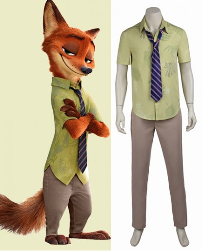 Zootopia Nick Wilde Fox Halloween Cosplay Costume