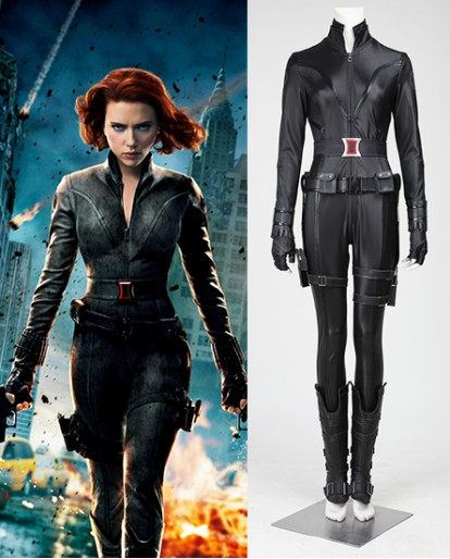 Black Widow Natasha the Avengers Cosplay Costume