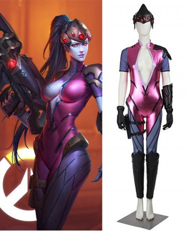 Black Widow Widowmaker Amélie Lacroix Overwatch Costume