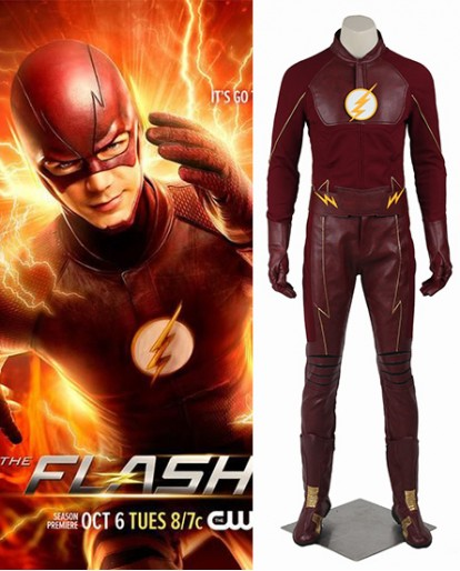 The Flash Season 2 Barry Allen Red Cosplay Costume
